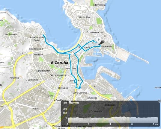 Itinerario Cycling for Ataxia A Coruña